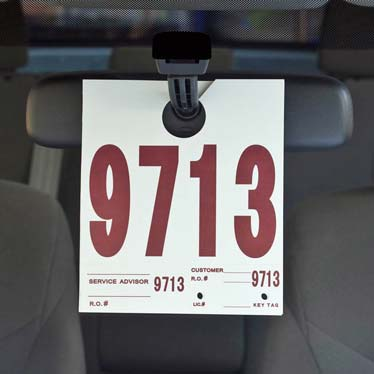 Automotive Hang Tags