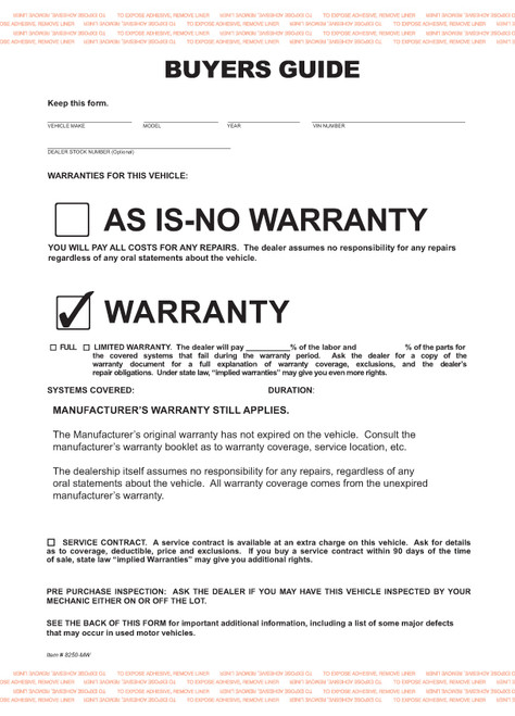 2-Part Buyers Guide Form - Adhesive Tape - English - Manufacturer ...