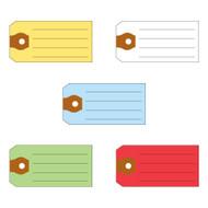 Multi-Purpose Tags (5 colors: Yellow, White, Blue, Green, Red) (500 per box)