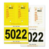 Poly Combo Key Tags and Stock Stickers (Yellow or White) (125 per box)