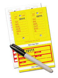 Poly Combo Key Tags with Detail Info (Yellow or White) (125 per box)