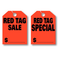 Red Tag Sale / Special / Fluorescent Jumbo Mirror Hang Tags (2 styles) (50 per pack)