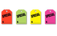SPECIAL Fluorescent Jumbo Mirror Hang Tags (4 color options) (50 per pack)