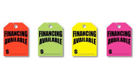 Fluorescent Jumbo Mirror Hang Tags (FINANCING AVAILABLE) (4 color options) (50 per pack)
