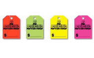 Fluorescent Jumbo Mirror Hang Tags (AS ADVERTISED) (4 color options) (50 per pack)