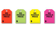 Fluorescent Jumbo Mirror Hang Tags (NO HASSLE PRICE) (4 color options) (50 per pack)
