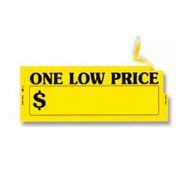 One Low Price Window Stickers (Yellow) (100 per pack) (5850)
