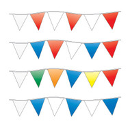 Triangle Pennants Streamers (100' long) (4 styles) (1 per pack)