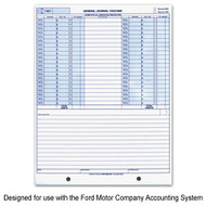 General Journal Vouchers Forms (Ford form # FMAS-252) (50 per pad / 100 per pack) (8175)