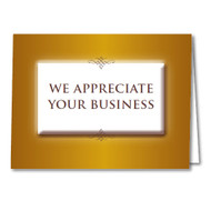 Thank You Cards and Envelopes (We Appreciate Your Business) (50 per pack) (5905)