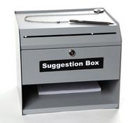Suggestion Box (sturdy metal construction) (4530)