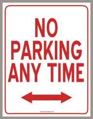 No Parking Sign (PDF Download)