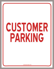 Customer Parking Sign (PDF Download)