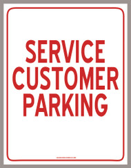 Service Customer Parking Sign (PDF Download)