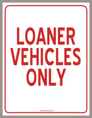 Loaner Vehicles Only (PDF Download)