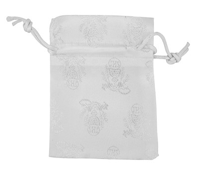 White I H S First Communion Drawstring Pouch