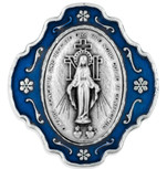 Catholic Rosary and Case Gift Set -  Miraculous Medal w/ Blue Enamel