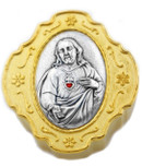Catholic Rosary and Case Gift Set -  Sacred Heart of Jesus