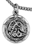 "Sterling Silver 4-Way Medal with Gold Accents and 24"" Chain"