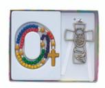 Kiddie Rosary and Crib Cross Set