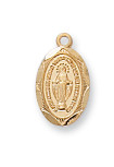 Gold on Sterling Miraculous Baby Pendant