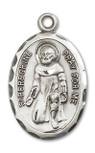 Sterling Silver Healing Saint Medal