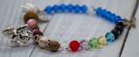 Multicolored First Communion Beaded Bracelet