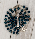 Dark Blue Wooden First Communion Rosary