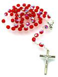 Sunburst Swirl First Communion Rosary (Red)
