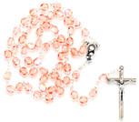 Sunburst Swirl First Communion Rosary (Pink)