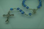 Sunburst Swirl First Communion Rosary (Blue)