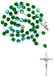 Sunburst Swirl First Communion Rosary (Green)