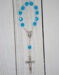 4mm Crystal Traditional One Decade Rosary (Sky Blue)
