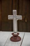 "4"" Desktop Saint Benedict Crucifix (Black)"