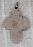 "2"" Maroon Baroque Crucifix Pendant"