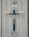 Four Evangelist Stations of the Cross Pendant (Blue)