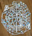 Large Crystal Wedding Lasso Rosary (Sliver)
