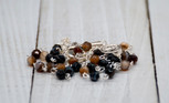 2mm Rosary Necklace with Brazilian Agate Beads (Dark Brown)