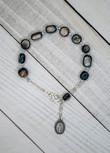 Natural Stone Beaded One Decade Rosary (Grey)