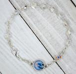 Italian Crystal One Decade Rosary (Divine Mercy) (White)