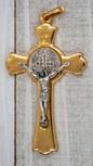 """2"""" Saint Benedict Crucifix Pendant (Gold)"""