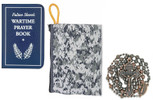 Military Rosary with Prayer Book and Tapestry Pouch (Antique Copper, Arctic Camo)