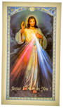 Traditional Holy Cards with Catholic Art and Prayers (Divine Mercy)