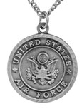 """Saint Michael Pewter Military Medal with (20"""" Chain) (Air Force)"""