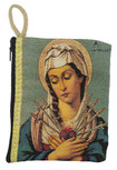 Large Tapestry Rosary Pouch with Traditional Catholic Art (Seven Sorrows)