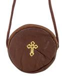 Round Burse in Genuine Leather (Brown)