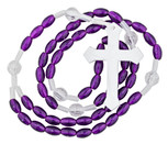 Catholic Mission Rosary - Pack of 12 (Violet)