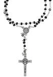 Saint Benedict Mini Rosary with Benedict Medal Cross (Black)