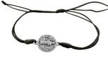 Adjustable Cord Bracelet with Saint Benedict Medal Charm & Black Cord