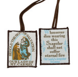 Traditional Brown Scapular (Leather Straps)